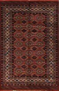 4x7 Turkoman Persian Area Rug
