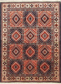 4x5 Yalameh Shiraz Persian Area Rug