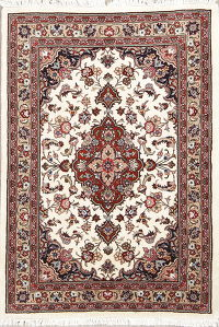 4x5 Tabriz Persian Area Rug