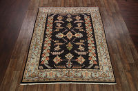 Navy Blue 9x11 Heriz Persian Area Rug
