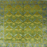 Floral Square 8x8 Oushak Art &Craft Oriental Area Rug