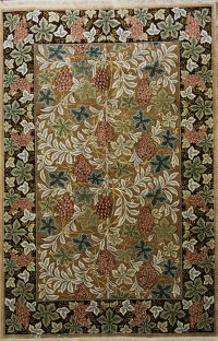 Wool/Silk New Floral 6x9 Tabriz Persian Area Rug