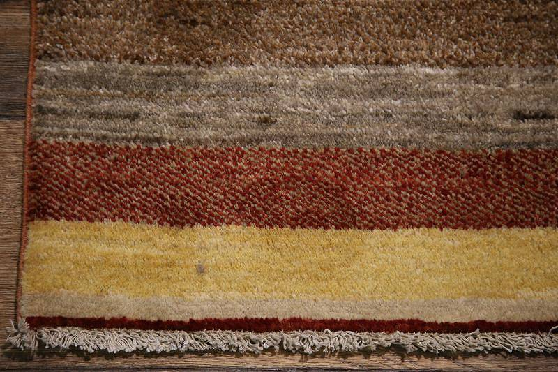 Striped 16' Long Runner Gabbeh Oriental Runner Rug Wool 3'x16'
