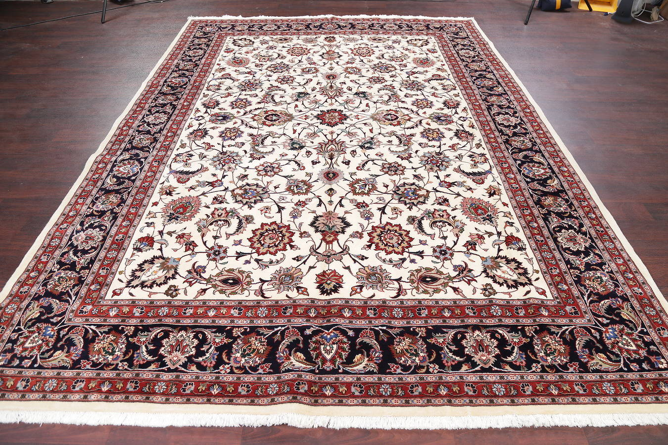 All-Over Ivory 8x11 Kashmar Persian Area Rug