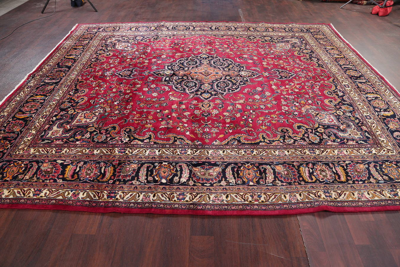 10x12 Signed Kashmar Persian Area Rug