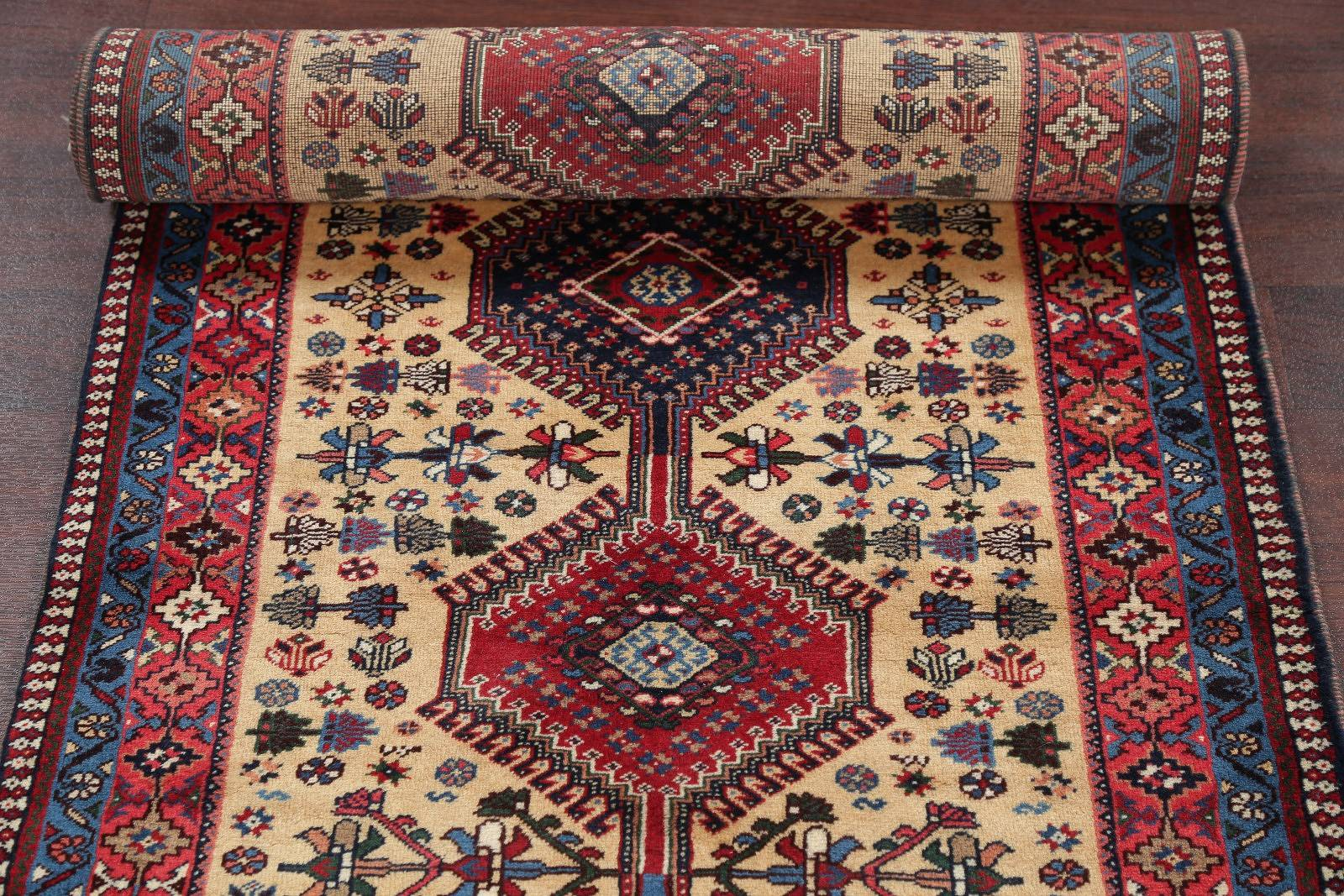 3x10 Yalameh Shiraz Persian Runner Rug