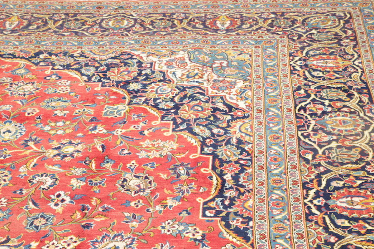 10x14 Signed Kashan Persian Area Rug