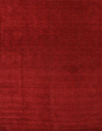 Contemporary Solid Red 7x10 Gabbeh Oriental Modern Area Rug