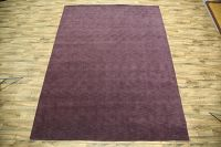 Solid Purple Gabbeh Oriental Area Rug 8x12