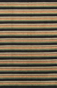 Striped Gabbeh Indian Modern Oriental Area Rug 7x10