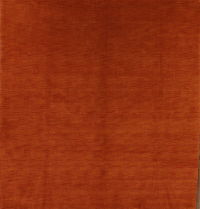 Solid Rust Square Gabbeh Oriental Modern Area Rug 8x8