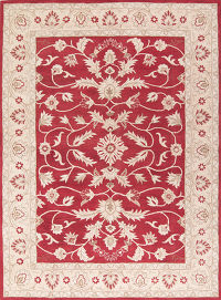 Red Floral 5x8 Oushak Agra Oriental Area Rug