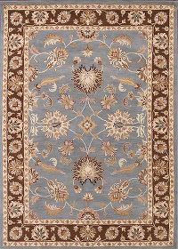 Floral Oushak Agra Indian Oriental Hand-Tufted Area Rug 8x11