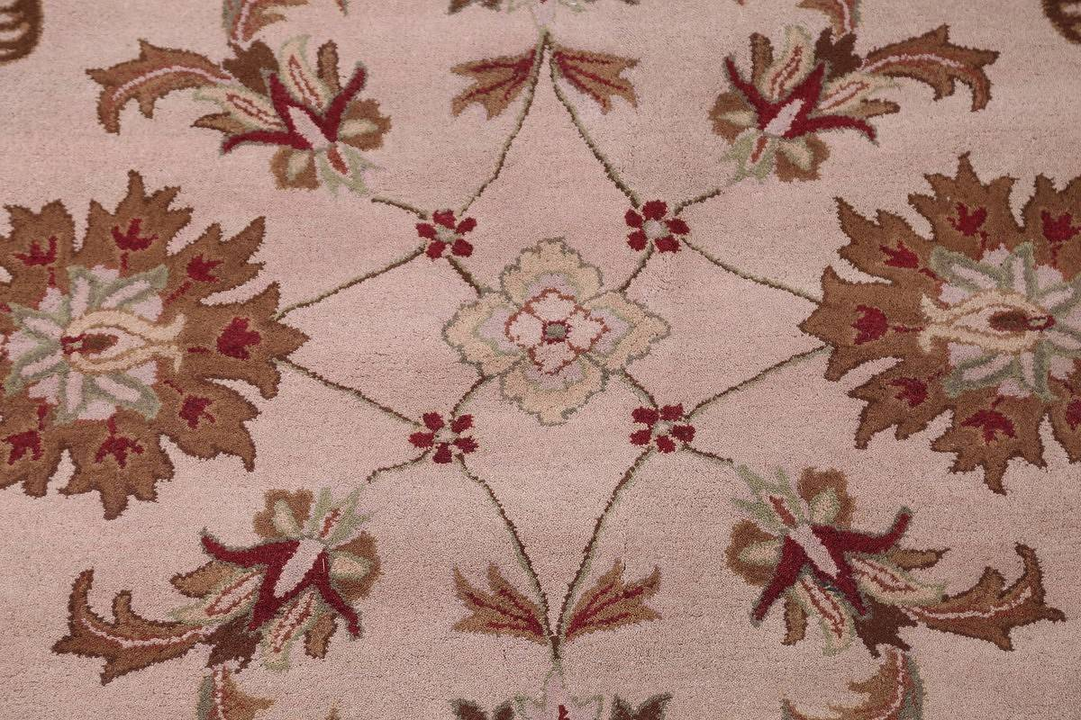 Hand-Tufted Floral 10x10 Oushak Agra Oriental Round Rug image 4