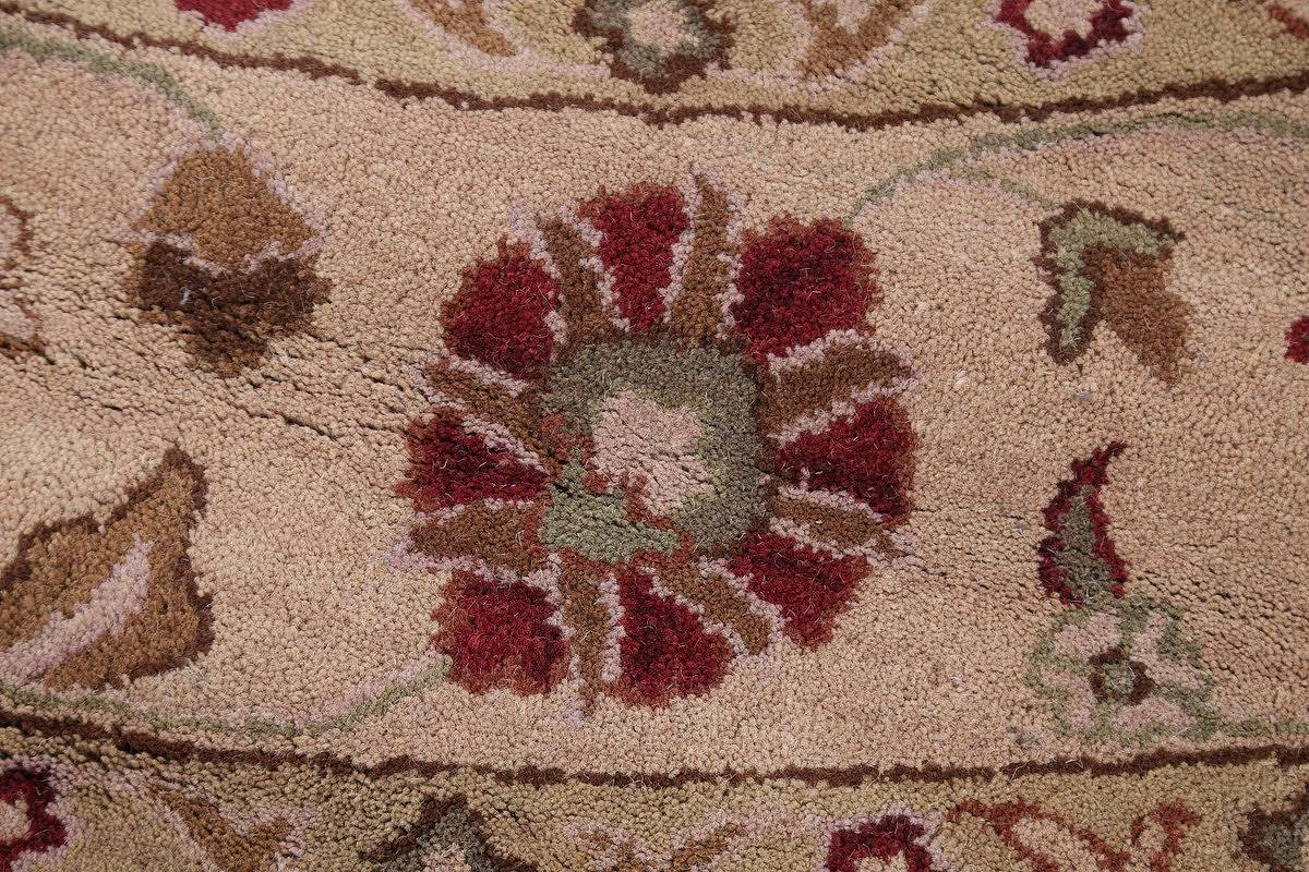 Hand-Tufted Floral 10x10 Oushak Agra Oriental Round Rug image 6