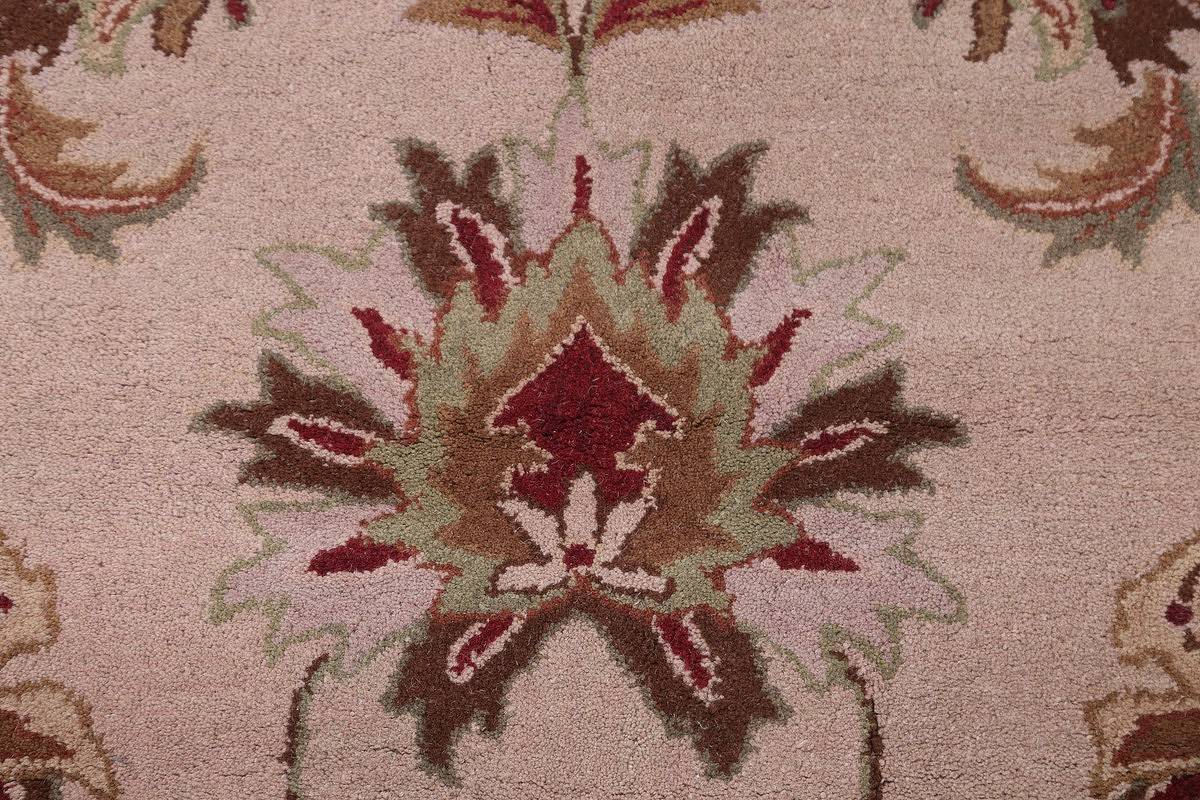 Hand-Tufted Floral 10x10 Oushak Agra Oriental Round Rug image 8