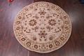 Hand-Tufted Floral 10x10 Oushak Agra Oriental Round Rug image 2