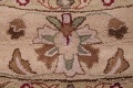 Hand-Tufted Floral 10x10 Oushak Agra Oriental Round Rug image 5