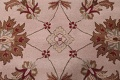 Hand-Tufted Floral 10x10 Oushak Agra Oriental Round Rug image 10