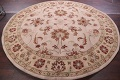 Hand-Tufted Floral 10x10 Oushak Agra Oriental Round Rug image 11