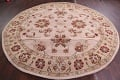 Hand-Tufted Floral 10x10 Oushak Agra Oriental Round Rug image 12