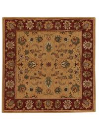 Floral Square 10x10 Oushak Oriental Square Rug