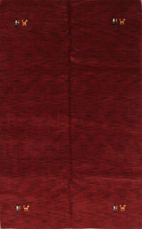 Red Tribal 6x9 Gabbeh Oriental Area Rug