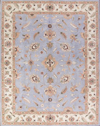 Floral Light Blue 8x11 Oushak Agra Oriental Area Rug