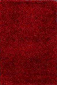 Red Shaggy Shag Oriental Area Rug 4x6