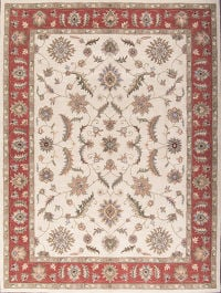 Floral Ivory 10x13 Oushak Agra Oriental Area Rug