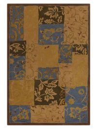 Hand-Tufted Floral Oushak Oriental Area Rug 5x8