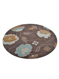 Hand-Tufted Floral Oushak Oriental Round Rug 12x12