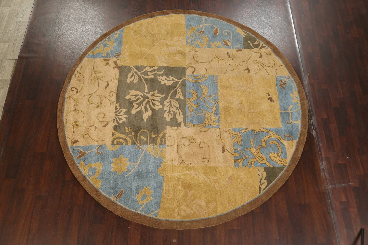 Transitional Floral Round Oushak Oriental Area Rug 10x10 image 2