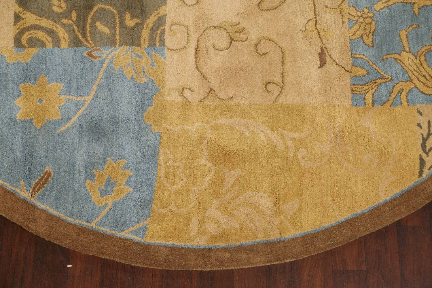 Transitional Floral Round Oushak Oriental Area Rug 10x10 image 5