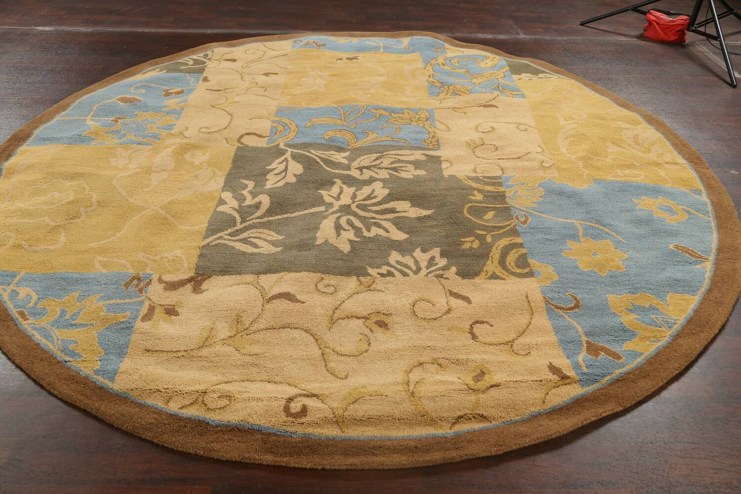 Transitional Floral Round Oushak Oriental Area Rug 10x10 image 13