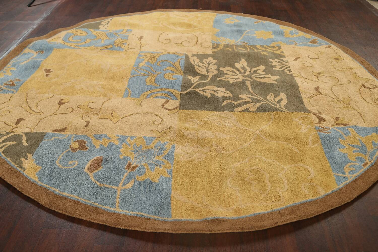 Transitional Floral Round Oushak Oriental Area Rug 10x10 image 14