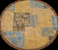 Transitional Floral Round Oushak Oriental Area Rug 10x10 image 1