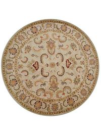 Hand Tufted Floral Round 10x10 Oushak Oriental Area Rug