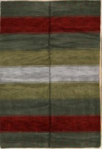 Striped 7x10 Gabbeh Oriental Area Rug