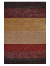 Striped Multi-Colored Gabbeh Modern Oriental Area Rug 8x10