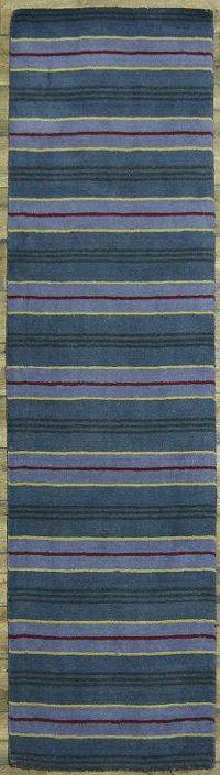 Striped Gabbeh Oriental Runner Rug 3x10