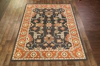 Charcoal Color 5x8 Oushak Agra Oriental Area Rug