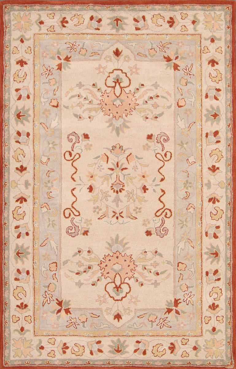 Traditional Floral Kashan Oriental  Hand-Tufted 9x12 Area Rug
