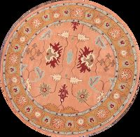 Floral Oushak Agra Oriental Hand-Tufted Round Area Rug 8x8