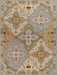 Hand-Tufted Oushak Agra Oriental Area Rug Wool 12x16