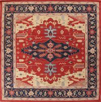 Red Square 12x12 Heriz Oriental Area Rug