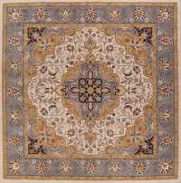Floral Oushak Agra Oriental Hand-Tufted 10x10 Square Area Rug
