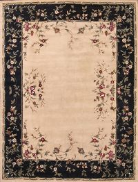 Aubusson Agra Indian Oriental Hand-Tufted Area Rug Wool 10x13