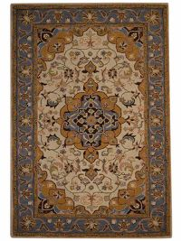Hand-Tufted Floral Ivory Oushak Agra Oriental Area Rug 10x13
