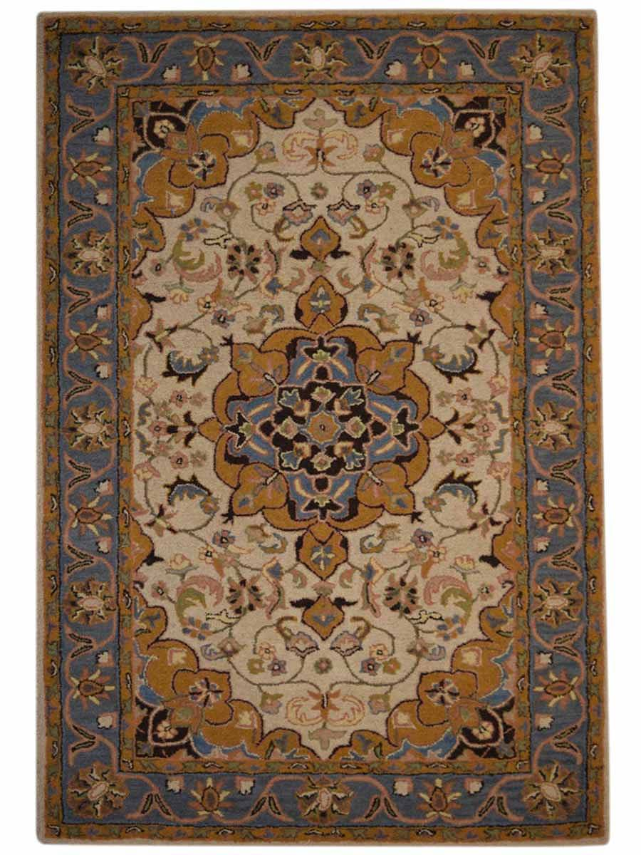 Hand Tufted Floral Ivory Oushak Agra Oriental Area Rug 10x13